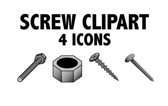 Nail clipart nail screw. Nut bolt images