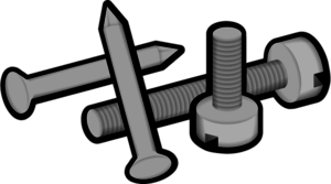 Nails clipart nail screw. Free iron cliparts download