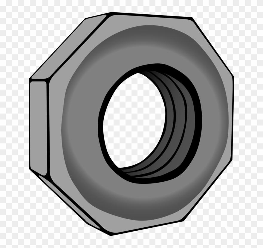 Nut clipart screw nut. Bolt hexagon computer icons