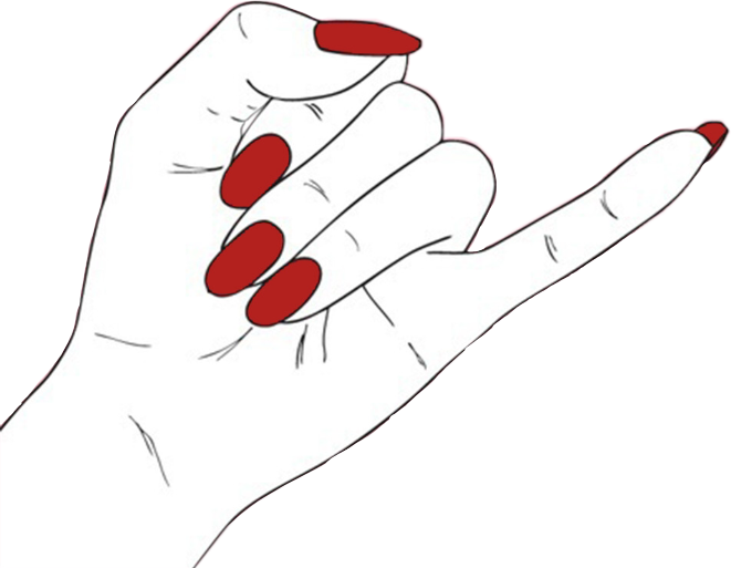 Nail clipart red nails. Hand tumblr grunge edgy