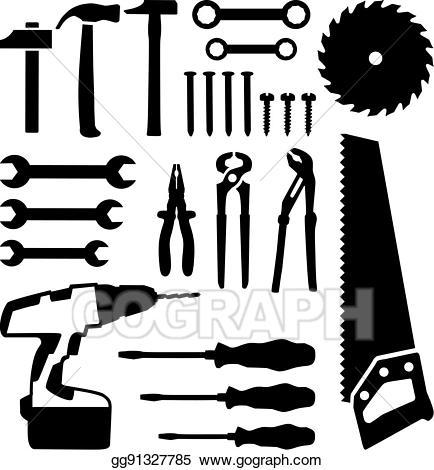 Screwdriver clipart saw. Clip art vector tools