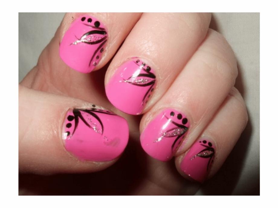 Nails clipart short nail. Pink art design ideas