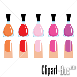 Poland nail design pencil. Nails clipart