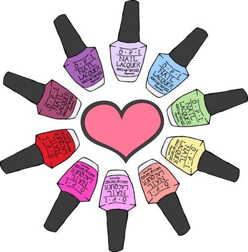 Nails clipart. Nail polish care organization