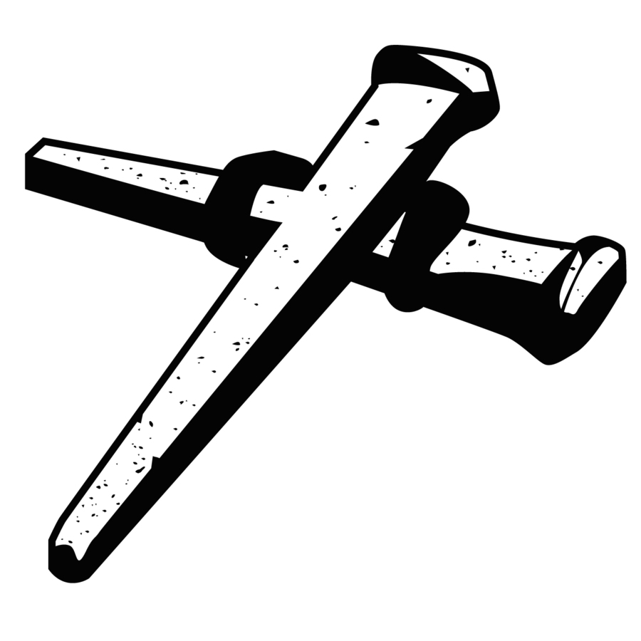 Download in the nail. Nails clipart cross