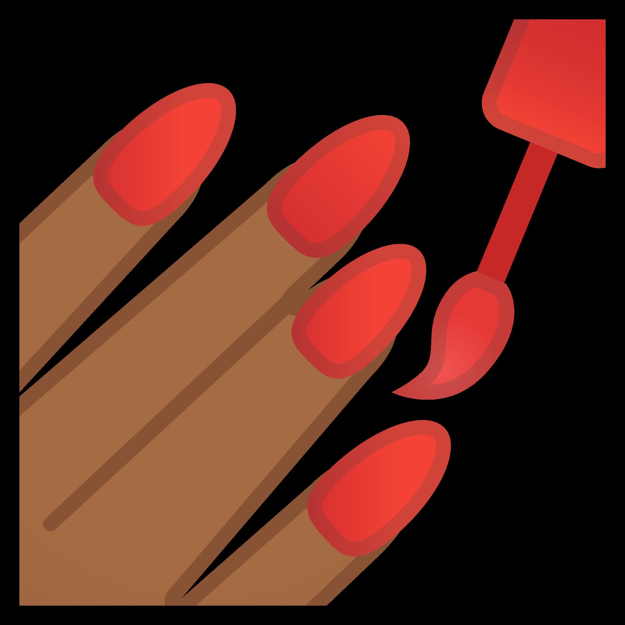 File noto oreo f. Nails clipart emoji