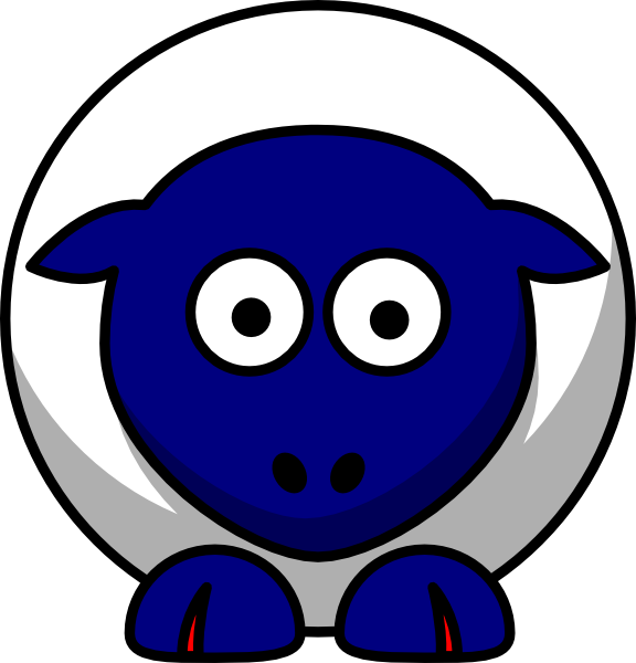 Sheep looking straight white. Nails clipart emoticon