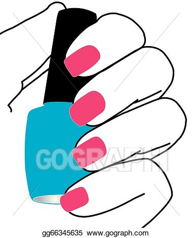 Nails clipart hand nail. Vector illustration with a