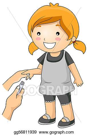 Cutting stock illustration gg. Nails clipart hygiene