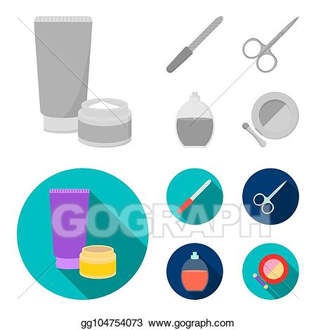 Nails clipart nail file. Stock illustration scissors for