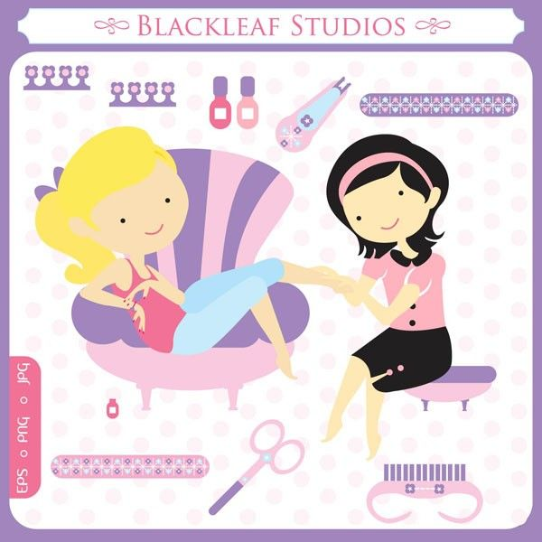 Nails clipart spa nail. Baby digital clip art
