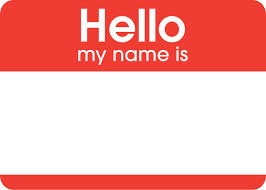 Name clipart. Tag