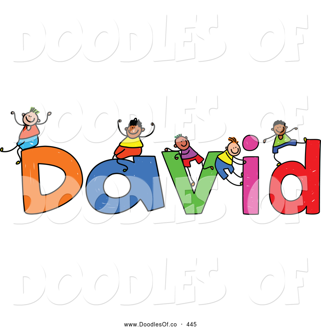Name clipart. Clip art david