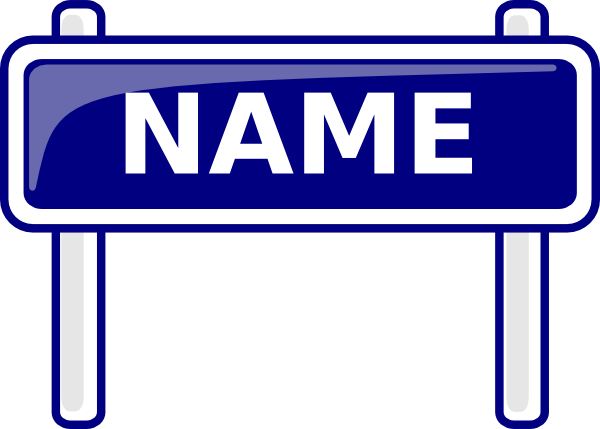 Name clipart. Sign clip art at