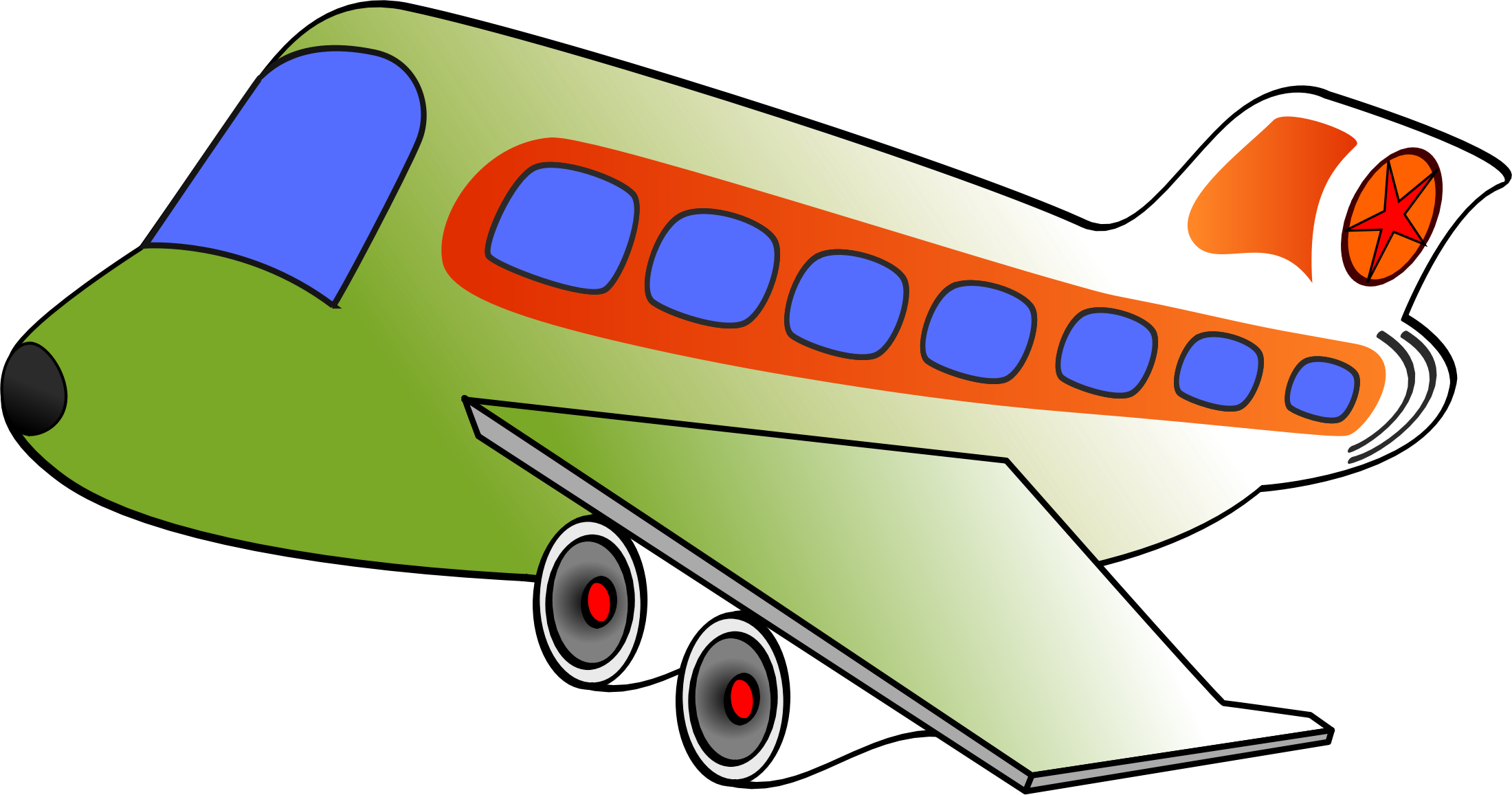 name clipart air transport