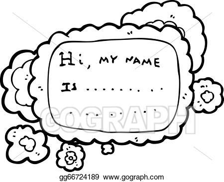 Vector stock tag illustration. Name clipart cartoon