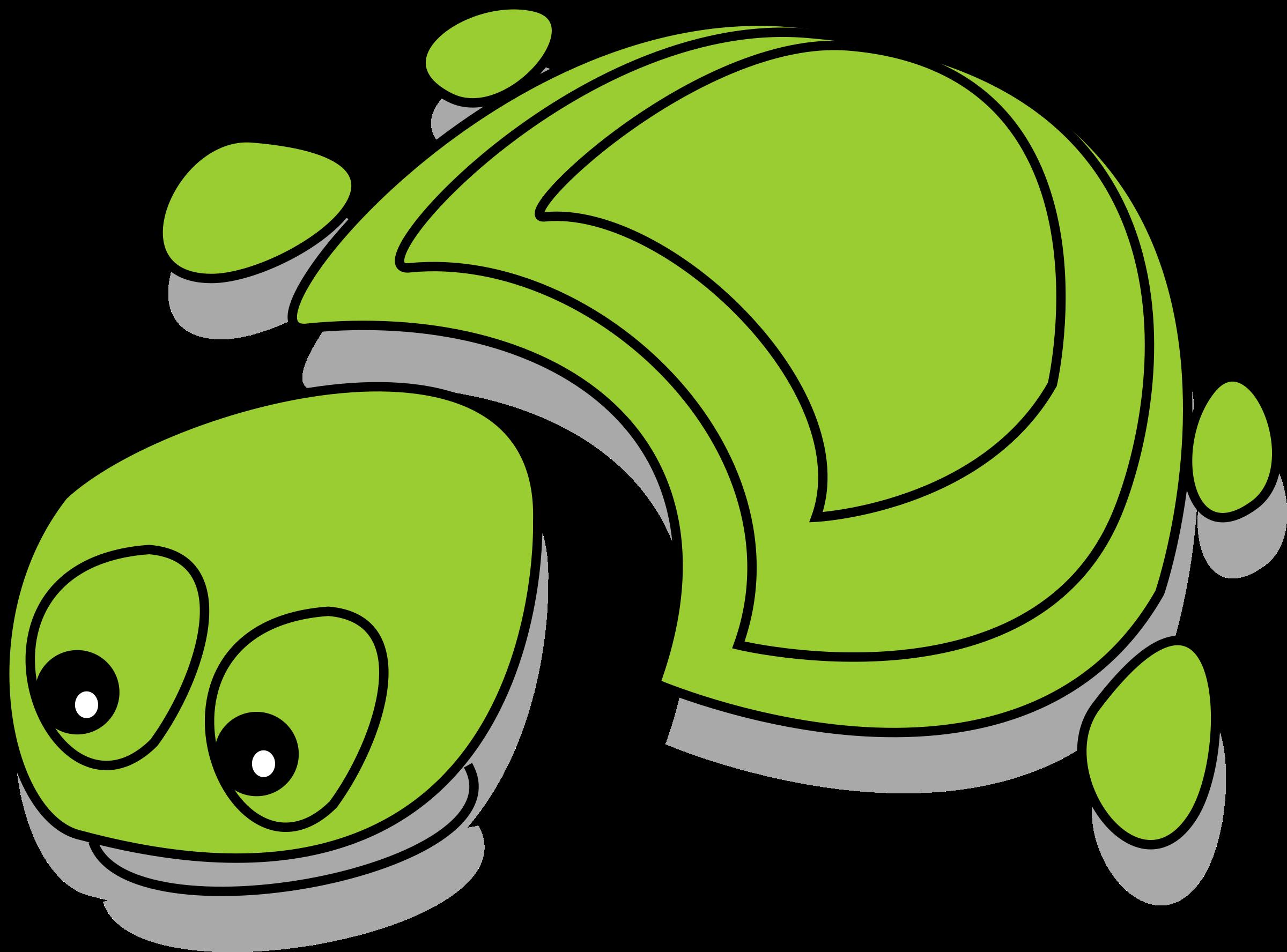 Name clipart cartoon. Green tortoise big image