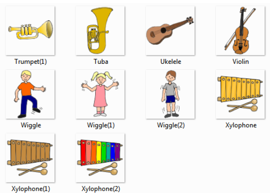 Xylophone clipart name. Free music instruments names