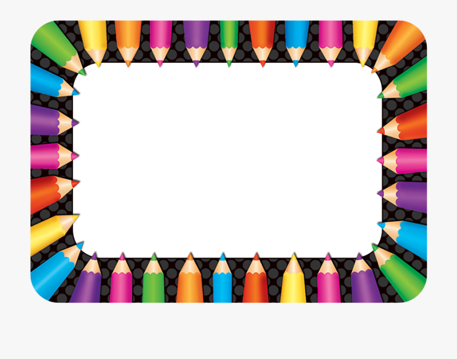 Tcr colored pencils tags. Name clipart name badge