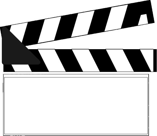 Clapper clip art at. Name clipart name badge