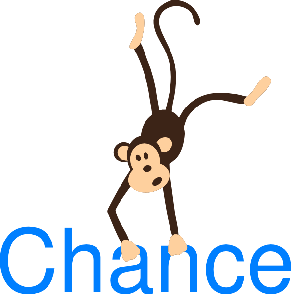 Name clipart name box. Monkey with chance clip