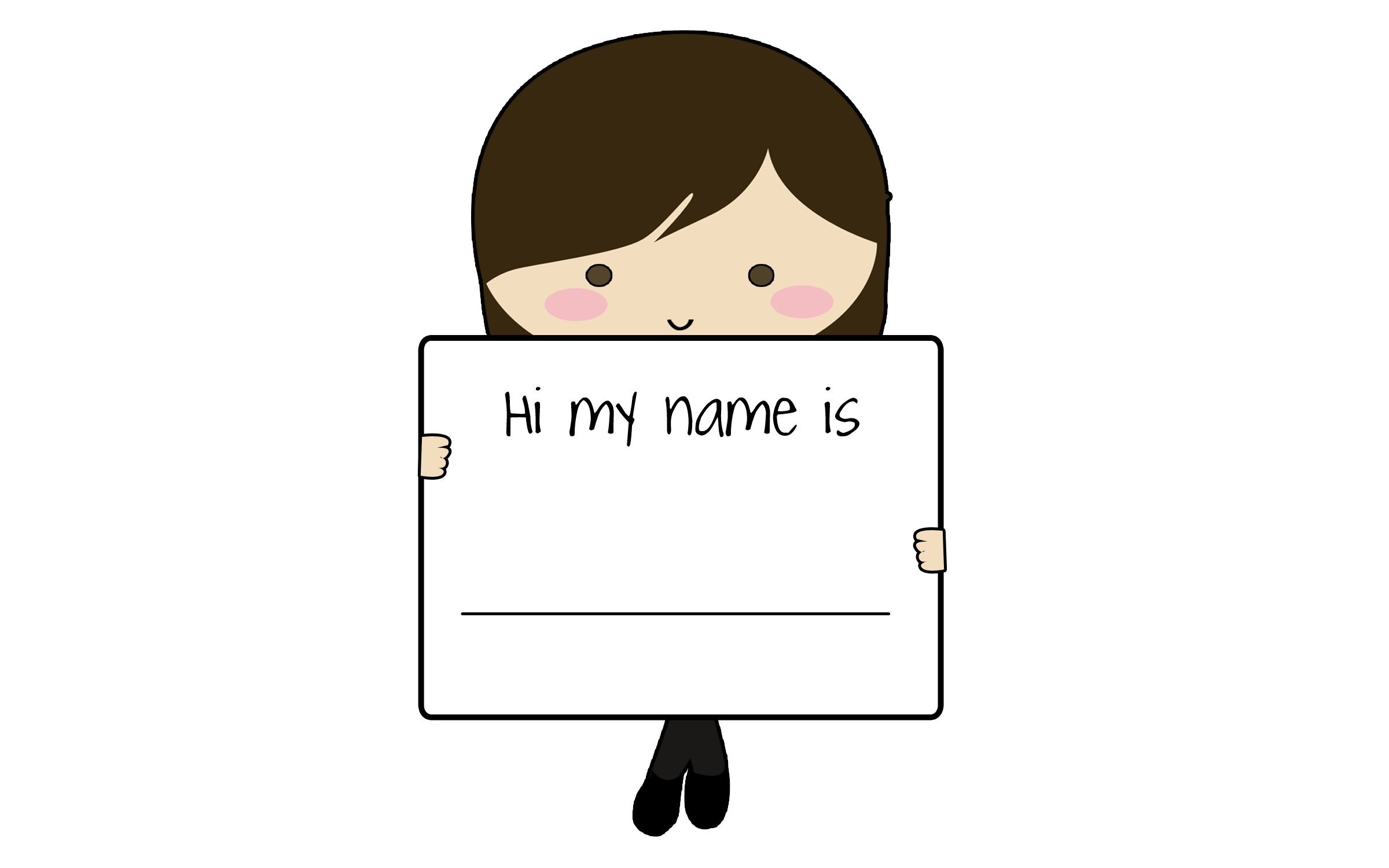 Name clipart name tag. Learning graphic design child