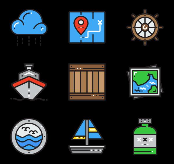 sea transportation icon. Nautical clipart navigation