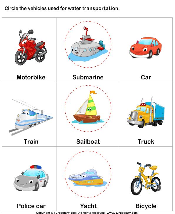 Transportation clipart name. Water with names