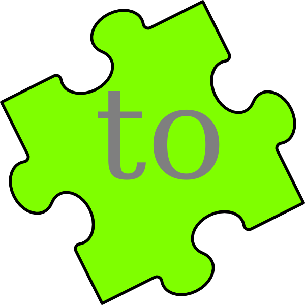 Name clipart word. Puzzle piece to clip