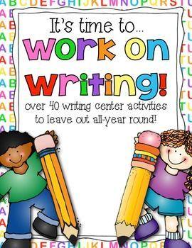 Center activities homeschooling kindergarten. Name clipart writing centre