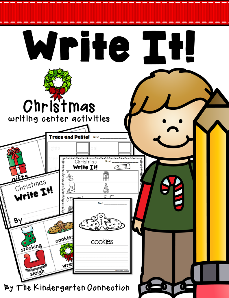 Christmas center activities . Name clipart writing centre