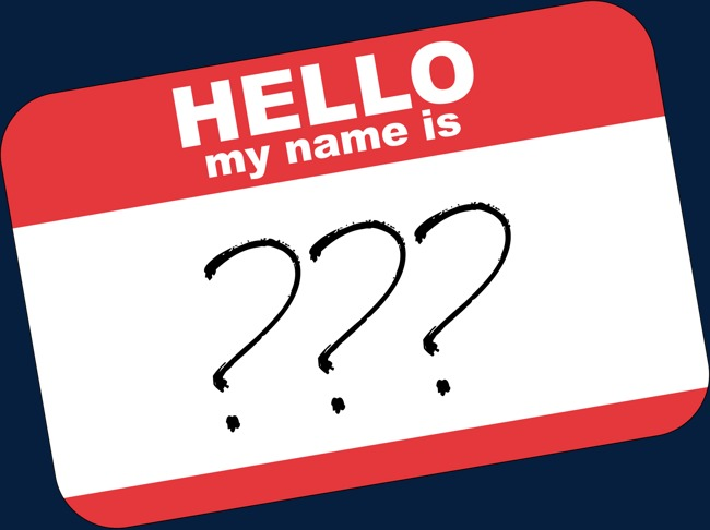Hello my is what. Name clipart