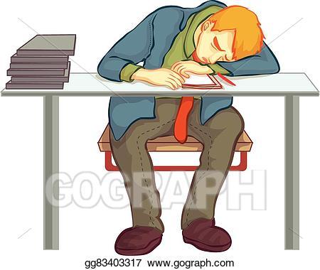 Nap clipart. Eps illustration at work