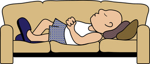 Nap clipart. Free image furniture illustration