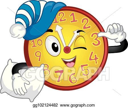 Naptime clipart time schedule. Vector art clock mascot