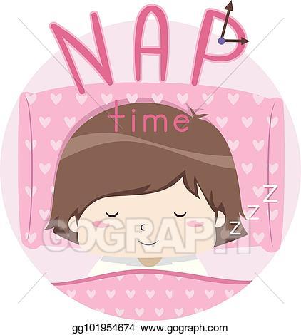 Eps illustration kid girl. Nap clipart cute