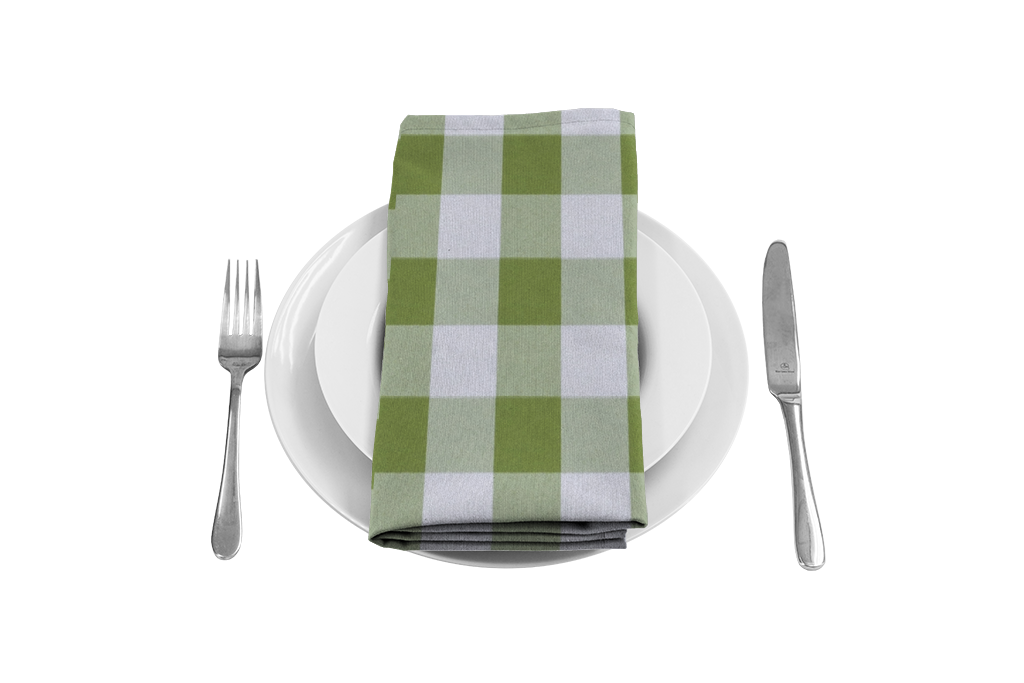 Gingham large tablecloths and. Napkin clipart checkered