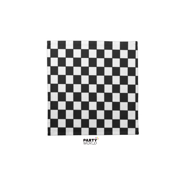 Napkin clipart checkered. Black and white check