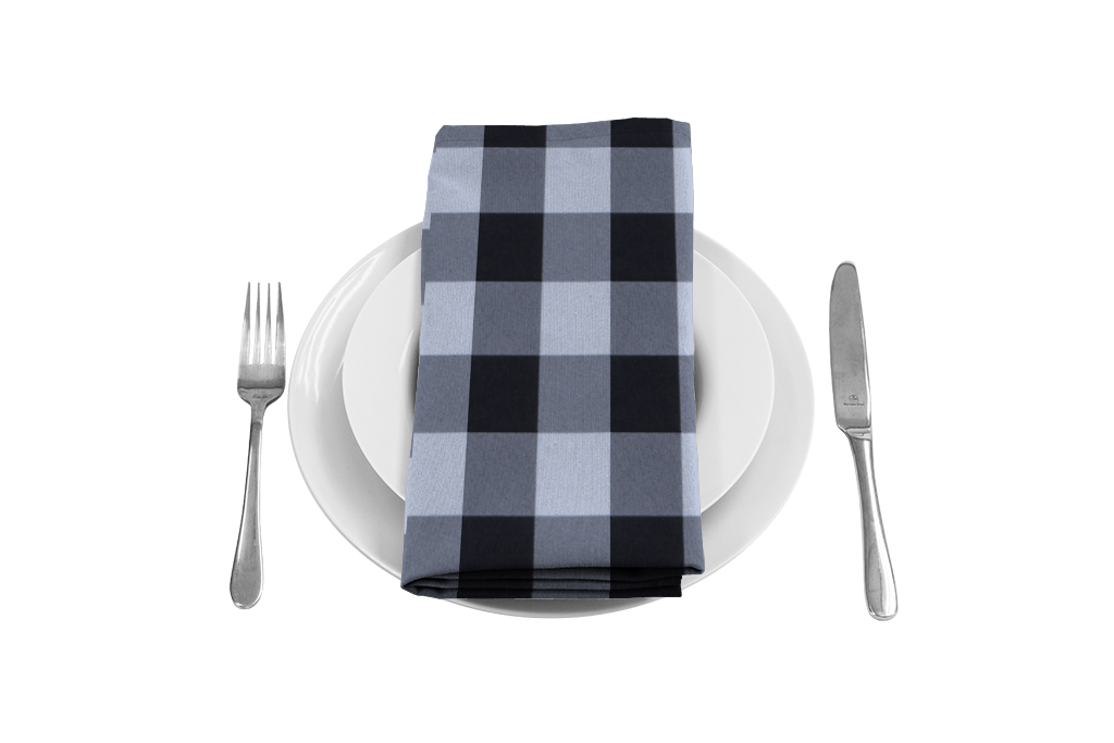 Napkin clipart checkered. Gingham large tablecloths and