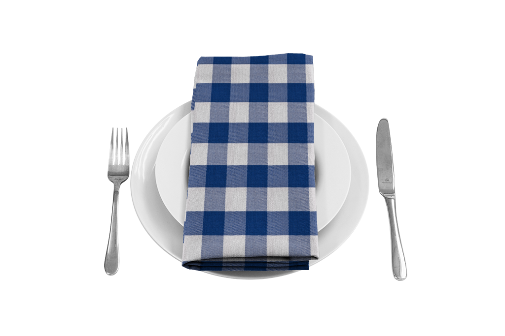 Gingham bring some country. Napkin clipart checkered