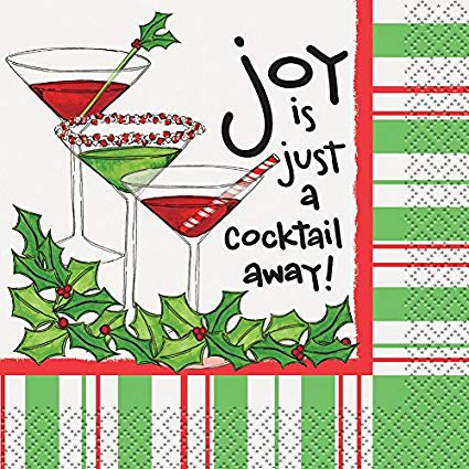 Napkin clipart cocktail. Amazon com joy is