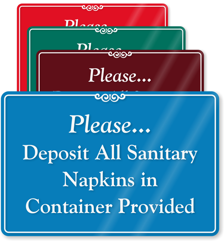 Feminine hygiene signs do. Napkin clipart disposable