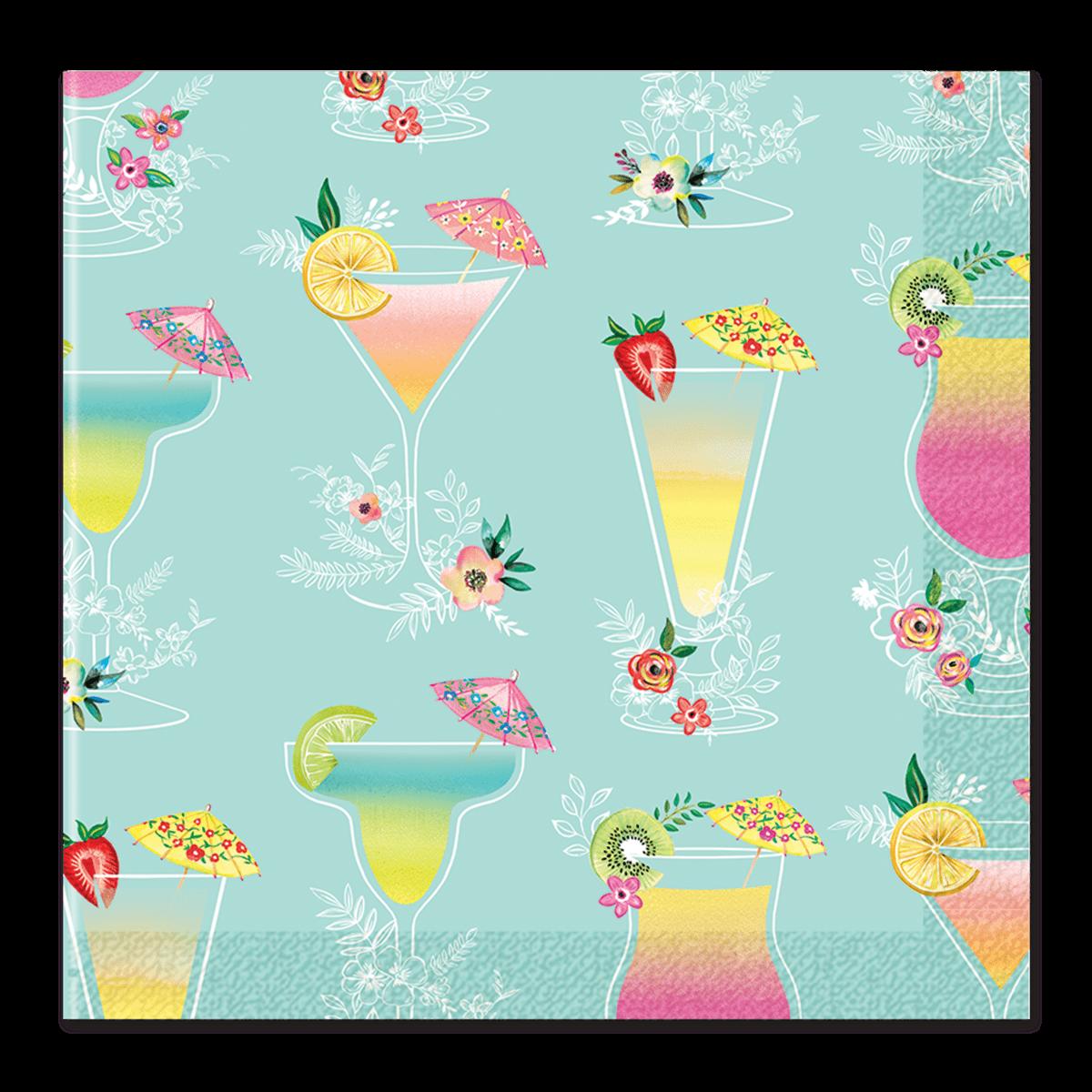 Napkin clipart folded napkin. Tropical drink pattern beverage