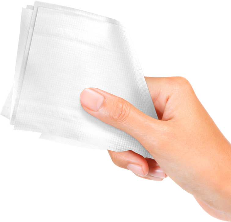 Napkin clipart hand wipes. Png images free download