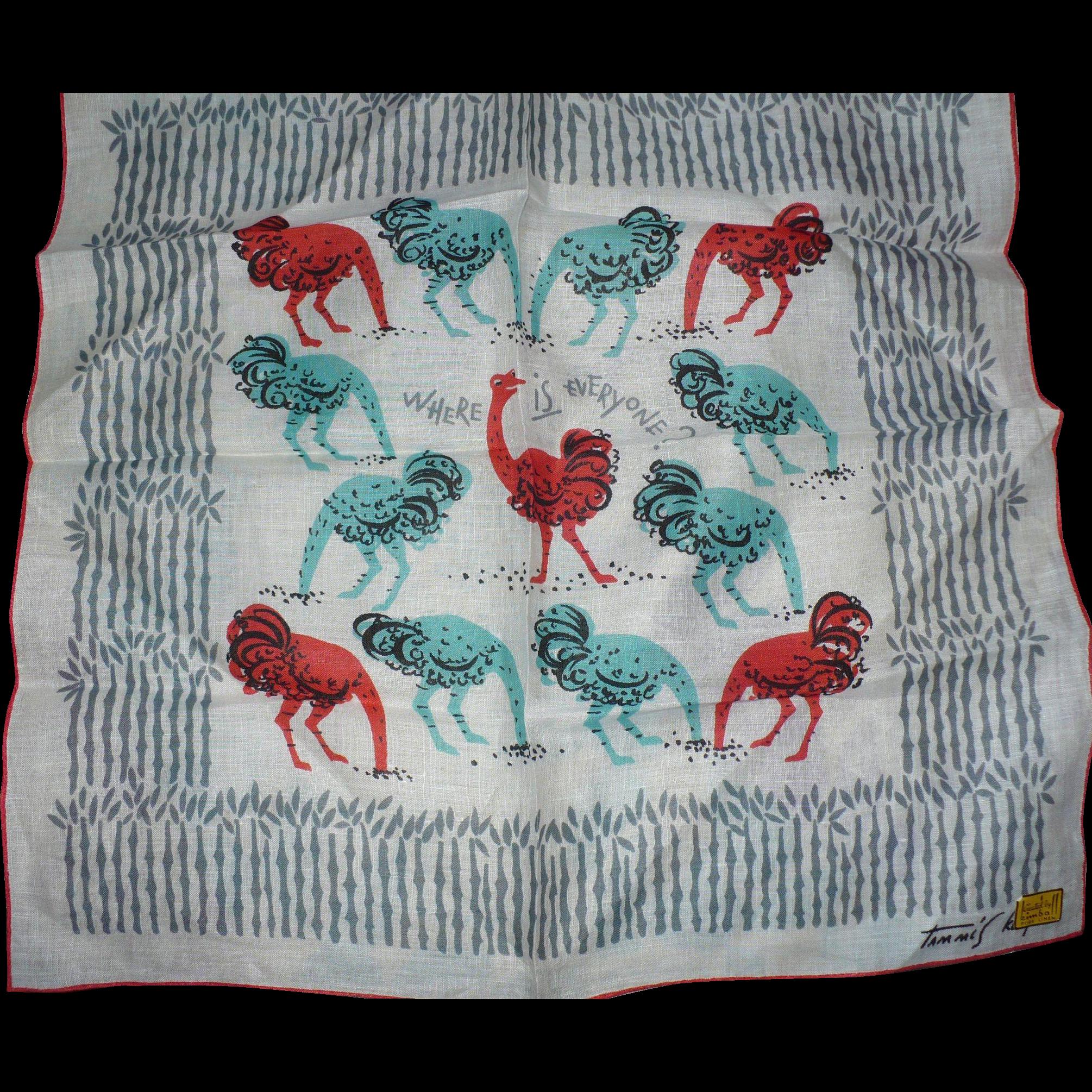 Napkin clipart handkerchief. Tammis keefe ostrich handkerchiefs