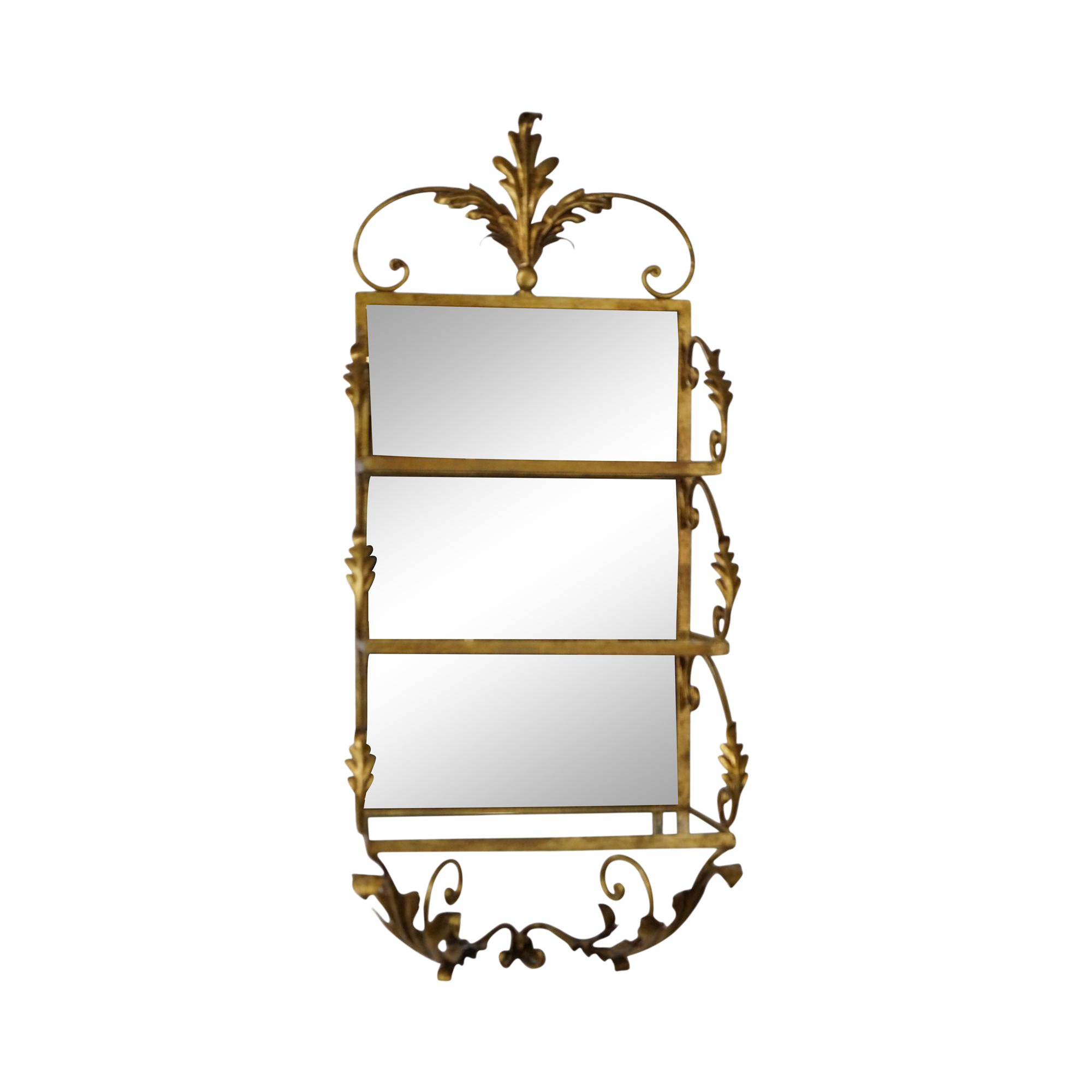 Quality gilt hanging etagere. Napkin clipart metal
