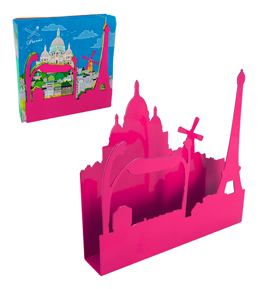Bel horizon pink pylones. Napkin clipart napkin holder