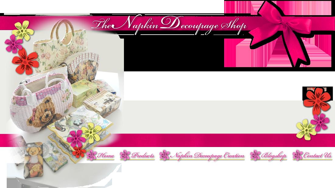 The decoupage papertole shop. Napkin clipart pink