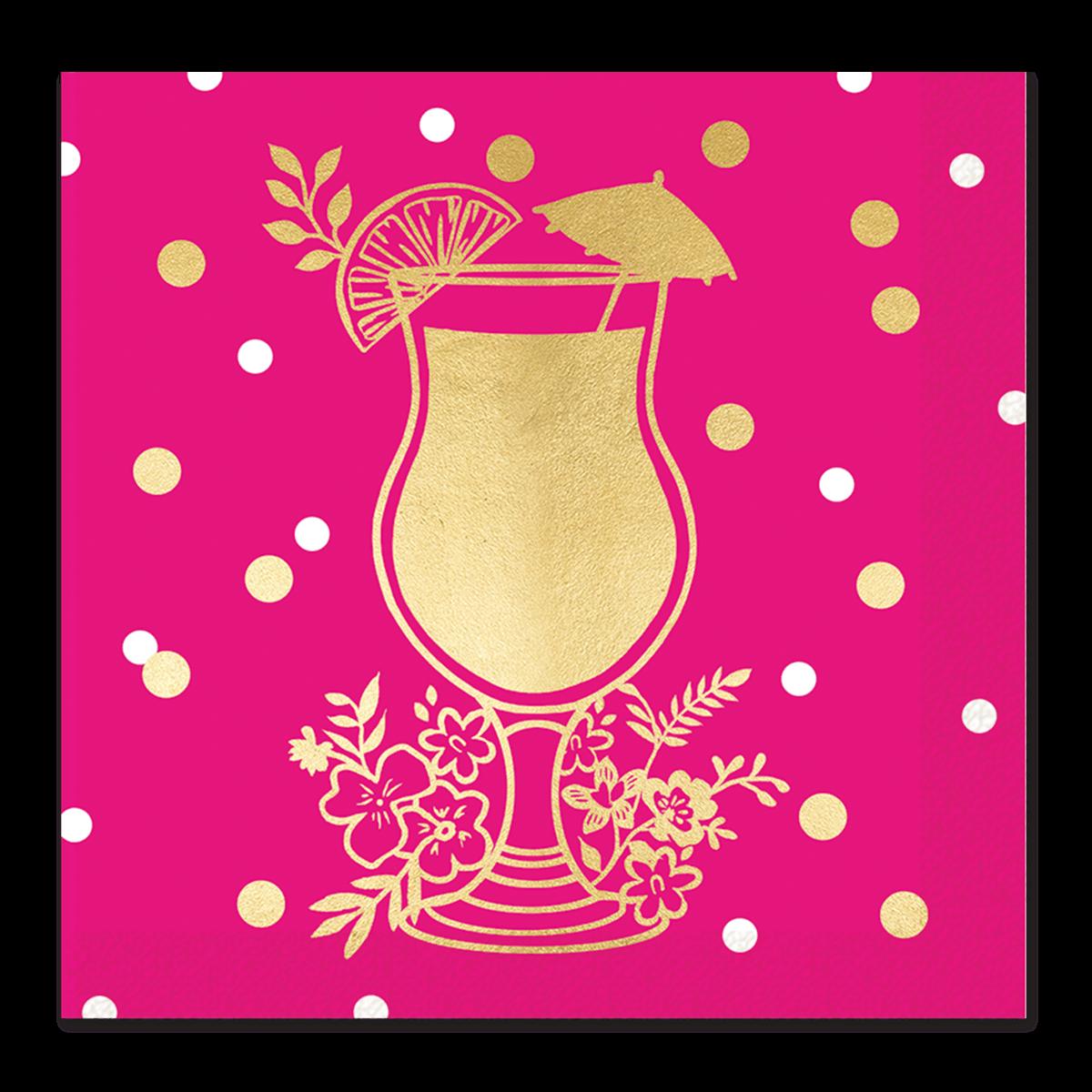 Napkin clipart pink. Hot drink foil lady