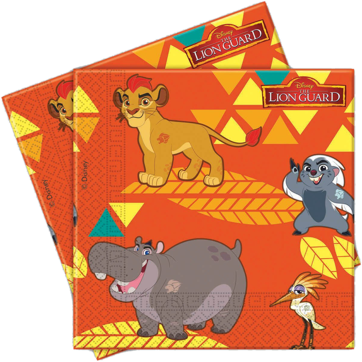 The lion guard serviettes. Napkin clipart serviette